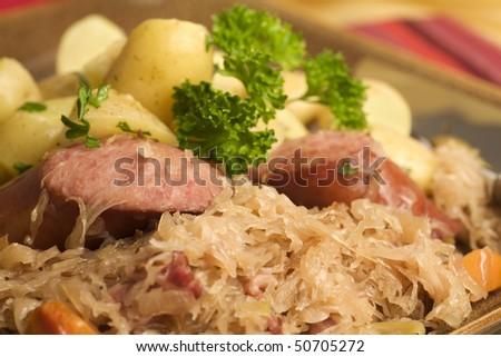 Kielbasa And Sauerkraut. and bags Sauerkraut+and+