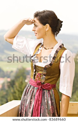 Bavarian girl in festive attire /bavarian Girl