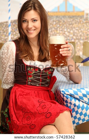 bavarian girl with beer