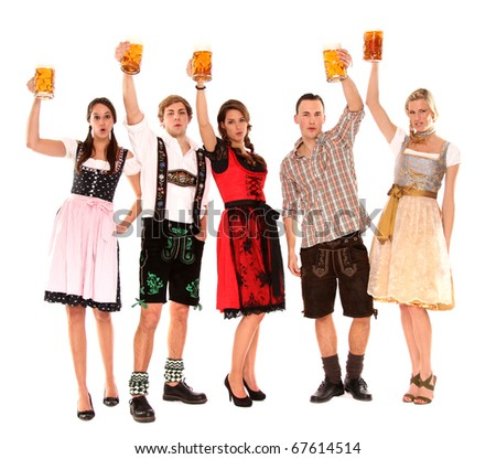 bavarian group with beer