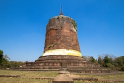 Bawbawgyi Pagoda is in the  Pyu Ancient City  (world heritage) at Sri Ksetra, Myanmar. This  ancient city provide the earliest testimony of the introduction of Budddhism almost 2,000 years ago.