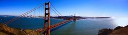 Bay Area Golden Gate Bridge Panorama