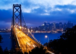 Bay Bridge and San Francisco at night