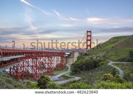Bay bridge at Sanfrancisco  #482623840