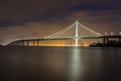 Bay Bridge's Eastern Span Replacement from Treasure Island, San Francisco, California, USA