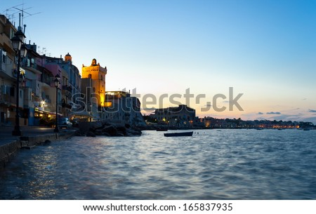 Bay by night of Ischia island, Italy #165837935