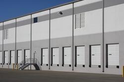 Bay doors in a warehouse