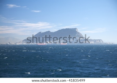 bay of algeciras and gibraltar in andalusia spain