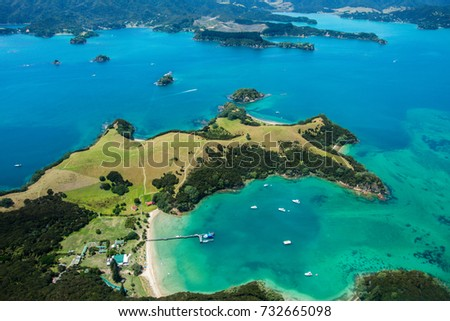 Bay of Islands from a helicopter #732665098