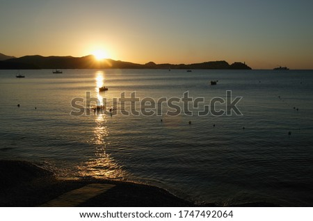 Bay of Portoferraio, Sunset, Elba, Tuscany, Italy