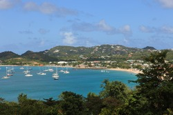 Bay on St. Lucia in the Caribbean