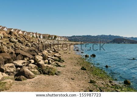 Bay Trail along Richmond Inner Harbor, San Francisco Bay, California