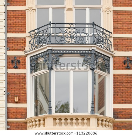 Bay window of an early 1900s building in amsterdam the for 1930s bay window construction