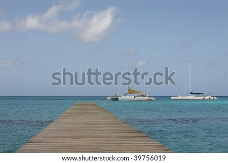 bayahibe footbridge at dominican republic