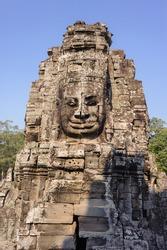 Bayon temple in Angkor Thom, Siemreap, Cambodia.