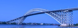 Bayonne Bridge in Bayonne, NJ from Dennis P. Collins Park