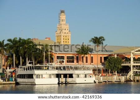 Bayside Marina in Downtown Miami, Florida USA