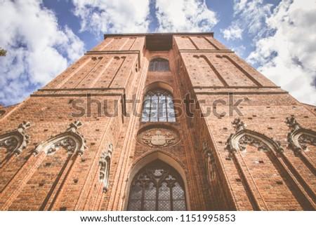 Bazylika katedralna św. Jana Chrzciciela i św. Jana Ewangelisty w Toruniu, Poland Zdjęcia stock ©