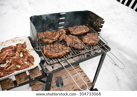BBQ during the winter time