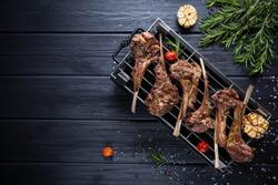 BBQ Lamb rack with tomato
