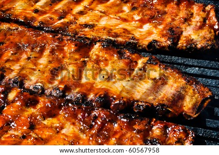 BBQ Pork Ribs on the Grill