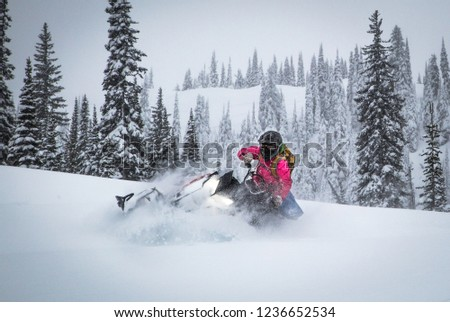 BC Back Country Snowmobiling Сток-фото ©