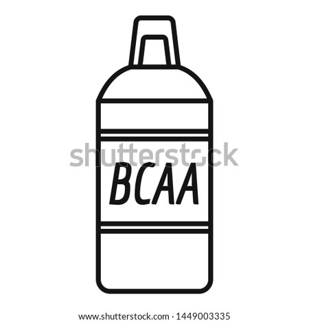 Bcca sport nutrition icon. Outline bcca sport nutrition icon for web design isolated on white background