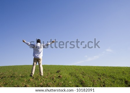 be free, change your life to be a farmer - stock photo