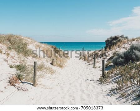 Beach access to Leighton beach in Fremantle, Perth, Australia Stock photo ©