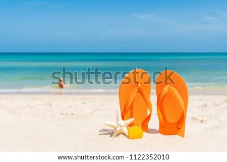 6c802342dba7 Beach accessories including flip flop