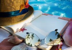 beach accessories on beach chair