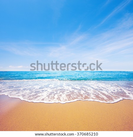 Stock Photo beach and beautiful tropical sea