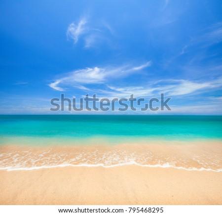 beach and beautiful tropical sea #795468295