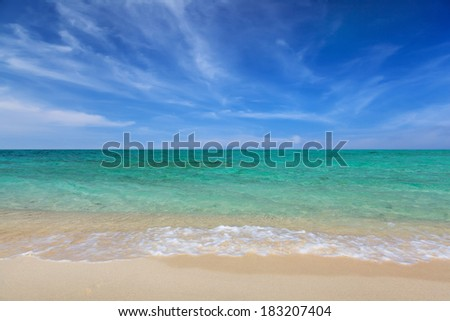 beach and ocean sea