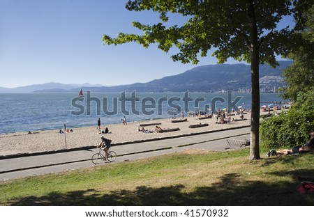 Beach and Promenade in Vancouver, Canada