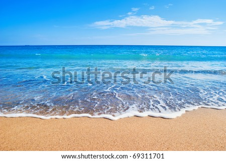 Stock Photo beach and sea
