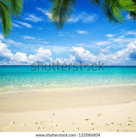 beach and tropical sea #122086804