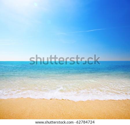 beach and tropical sea