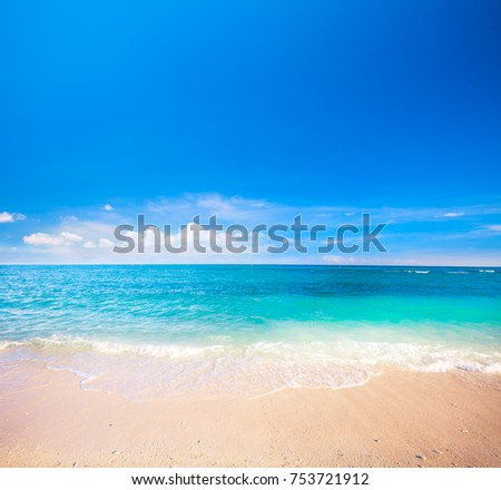 beach and tropical sea #753721912