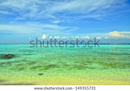 beach and tropical sea sand of Thailand sea, Krabi #149355731
