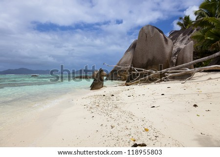 Beach Anse Source d Argent, Island La Digue, Seychelles