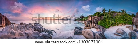 Beach at Anse Source d'Argent, La Digue, Seychelles Stock photo ©