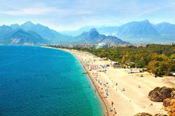 Beach at Antalya, Turkey