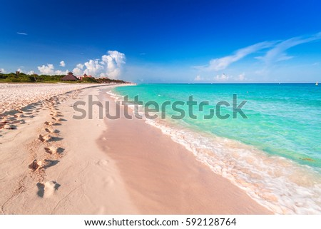 Shutterstock Beach at Caribbean sea in Playa del Carmen, Mexico