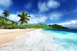 beach at Mahe island, Seychelles