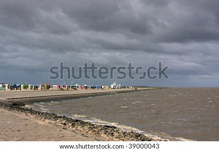 beach at Neuharlingersiel at the german north sea coast