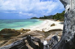 Beach at Praslin, Anse Kerlan, Seychelles, Indian Ocean, Arica