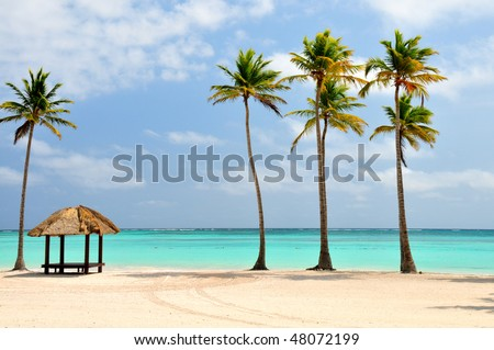 Beach at Punta Cana, Dominican Republic - stock photo