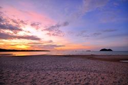 Beach at Sunset Background