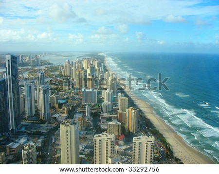 gold coast beach australia. in Gold Coast, Australia